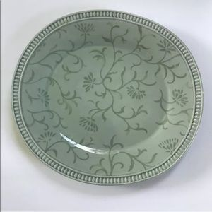 2 Waterford Dining Plates Green Vines 11.5 X 12.5